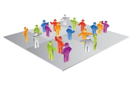 People icons abstrakten Standard-Bild - 10983159