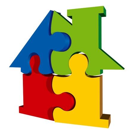 Haus Zusammenfassung Icon Standard-Bild - 10983302