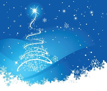 christmass: Navidad azul de fondo