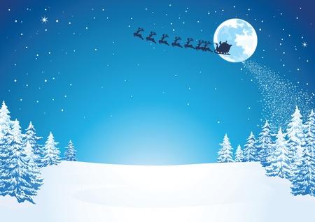 Winter Christmas Scene Illustration
