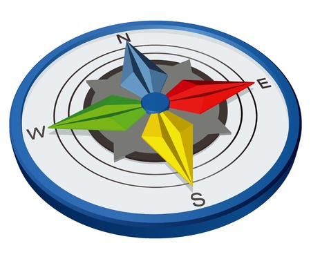 Navigation Kompass Standard-Bild - 11031506