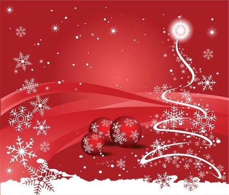 Weihnachten rotem Hintergrund Standard-Bild - 11031519