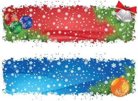 Cheerful Christmas banners Illustration