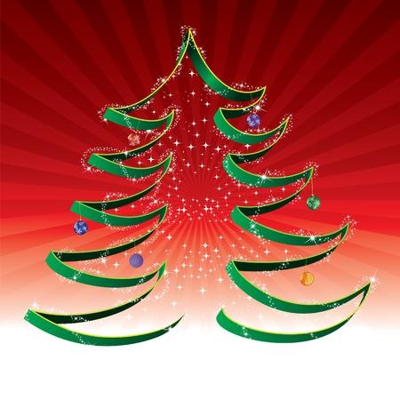 Christmas abstract tree