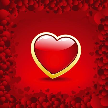Valentine golden heart