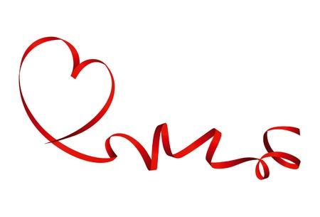 Valentine ribbon heart Illustration