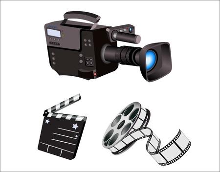 Movie camera icons