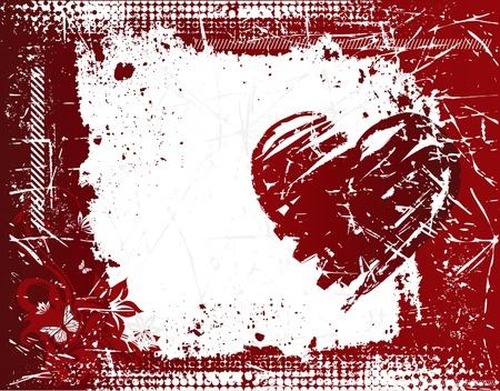 Grunge Valentine pattern Illustration