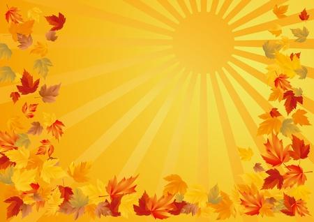 Herbst-abstrakten Hintergrund Standard-Bild - 11031520