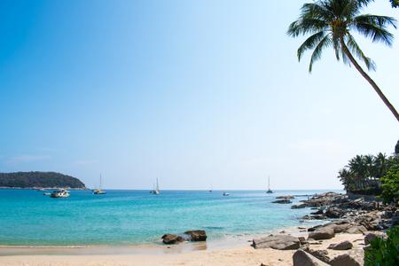 Beautiful sea beach views in Thailand.