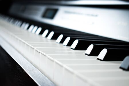 Piano pictures in the music practice room. Imagens