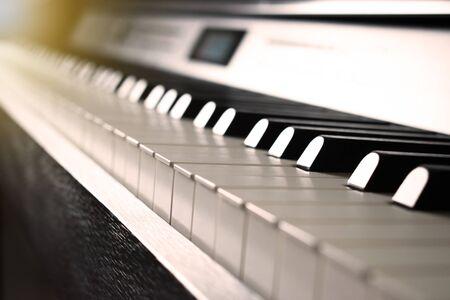 Piano image with sepia tone.