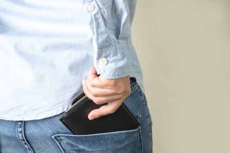 Purse in your back pocket.