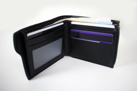 Wallet with isolated on background.
