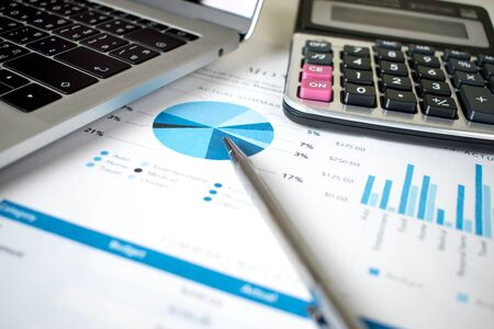 Financial graph on the desk. Accounting concept.