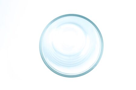 The top view of the glass. Isolated white background. 版權商用圖片