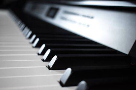 Classic player. Close-up of Piano and Piano keyboard. Stockfoto
