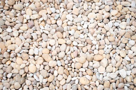 White pebbles Stone texture and background.