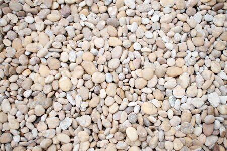 White pebbles Stone texture background.