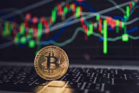 Bitcoin exchange trading. Cryptocurrency exchange concept.