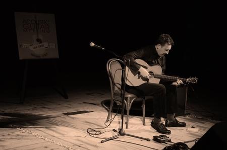 sarzana: clive carroll in concert at the acoustic guitar meeting presentation concert 12 April 2012 Sarzana Italy Editorial