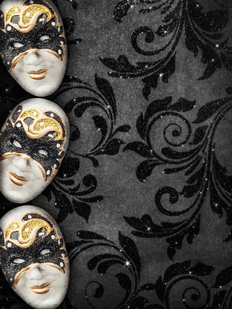 Vintage style dark masquerade background