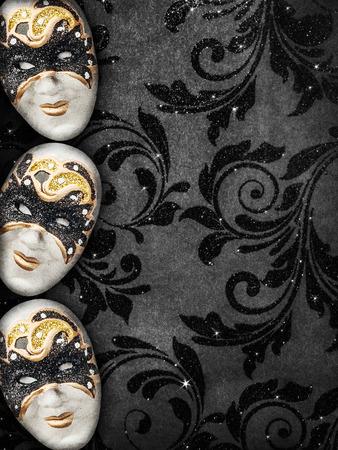 masquerade ball: Vintage style dark masquerade background