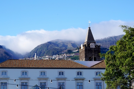 moutains: view of moutains over Funchal