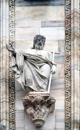 apostle at the Cathedral of Milan at the latest from the nineteenth century Stock Photo
