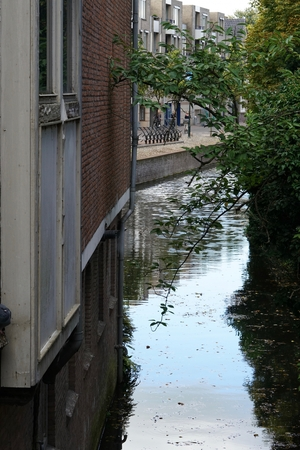 town canal in the Dutch Amersfoorth