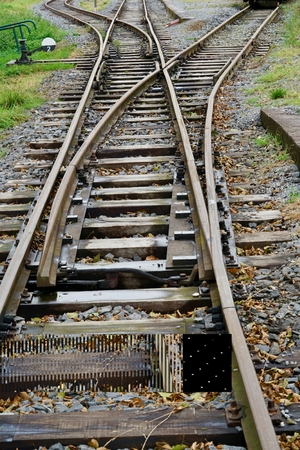 view of two rail switches