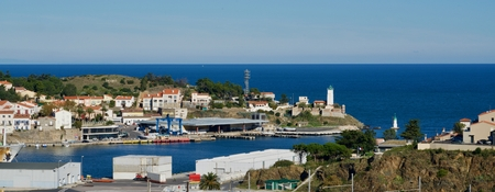 port vendres: view of the harbor of Port Vendres
