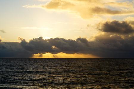 sundown over the ocean