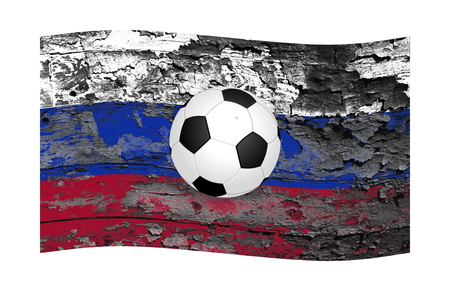 Morbid Russian flag with a football