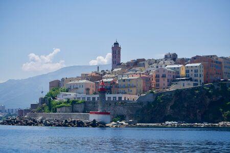 View to Bastias old harbour Stok Fotoğraf