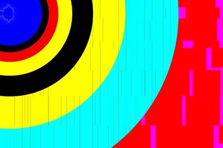Bright multi corlored concentric circles