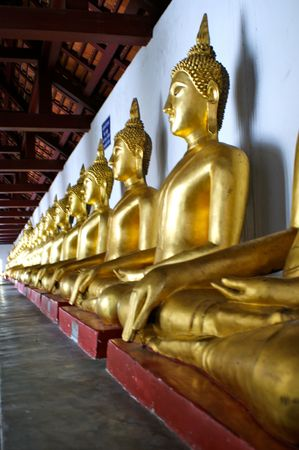 align: Align of golden buddha around the temple
