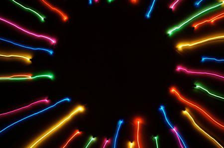 radiactividad: Colorful la radioactividad de la luz Foto de archivo