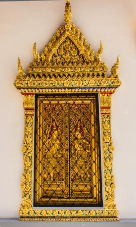 grand pa: window in Emerald Buddha temple Wat Pra Kaeo
