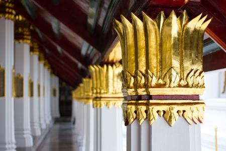 Beautiful of  thai art architecture of the Emerald Buddha temple(Wat phra kaew) and Royal Grand Palace ,Bangkok,Thailand.