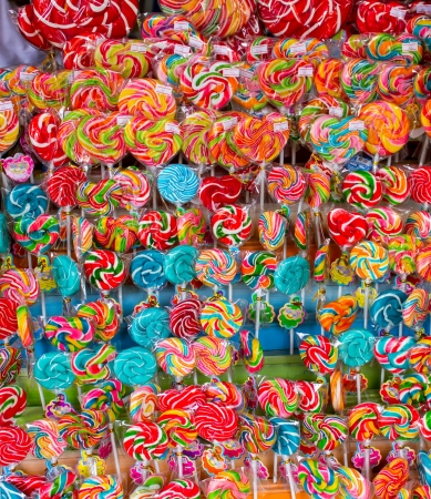 Mixed colorful candy in Thai market  photo