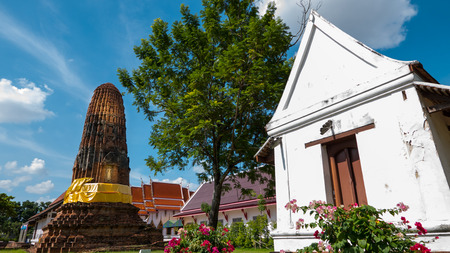 Nonthaburi, Thailand: Old Pagoda in Wat Prang Luang buddhist temple( Public temple ) in Nonthaburi, Thailand