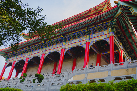 Traditional and architecture Chinese style temple at Wat Mangkon Kamalawat or Wat Leng Noei Yi  in Nonthaburi,Thailand.
