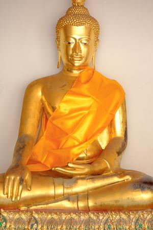 Selective focus point on  Buddha statue at Wat Pho, Bangkok Thailand