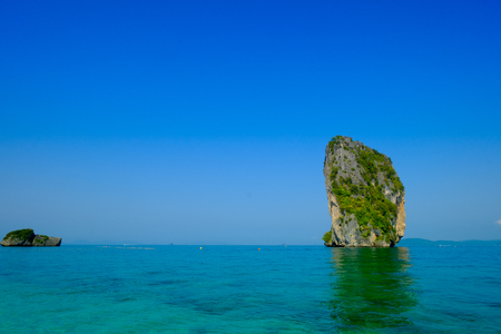 heavenly place in the photo - Submit an island in Krabi, Thailand. Tropical vacation holiday beach concept.
