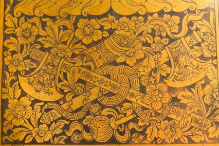 Wall art, Temple Thailand  Wat Pho photo