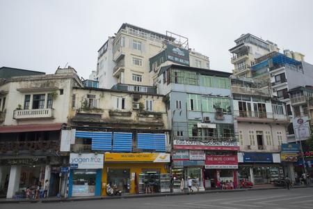 Traditional vietnamese houses in Hanoi, Vietnam