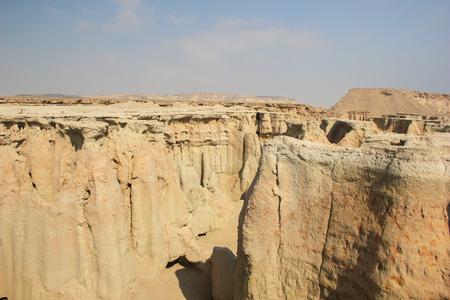 rock formation: QESHM ISLAND, canyon Stars Valley. Mountain range at Qeshm Island, Hormozgan, Iran Stock Photo