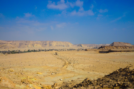 QESHM ISLAND, canyon Stars Valley. Mountain range at Qeshm Island, Hormozgan, Iran Stock Photo