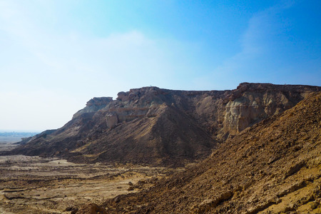 QESHM ISLAND, canyon Stars Valley. Mountain range at Qeshm Island, Hormozgan, Iran Stock Photo